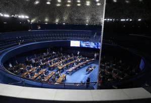 O documento dos senadores tem 28 signatários de 11 partidos Foto: Jorge William / Agência O Globo