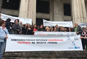 Manifestação de auditores fiscais no Rio de Janeiro Foto: GloboNews