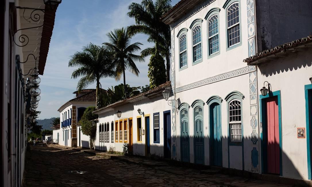 Casario do centro histórico de Paraty, que faz parte da região turística da Costa Verde Foto: Brenno Carvalho / Agência O Globo