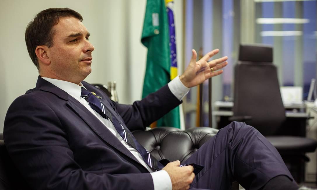 O senador Flavio Bolsonaro (PSL-RJ) 02/07/2019 Foto: Daniel Marenco / Agência O Globo