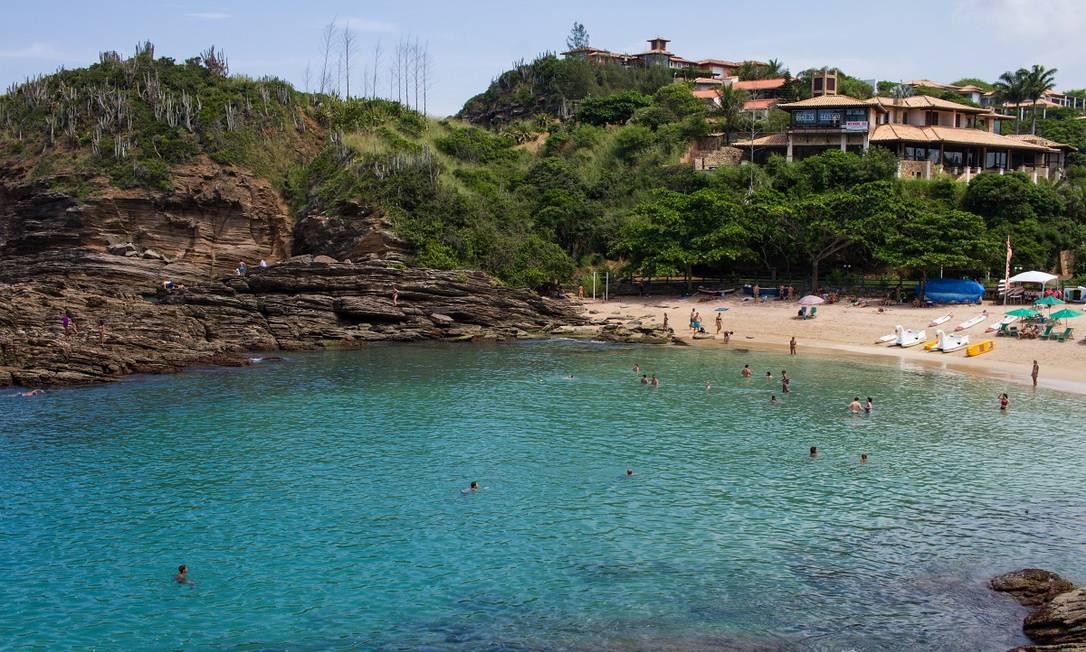 Praia da Ferradurinha, em Armação dos Búzios, parte da região turística da Costa do Sol Foto: Thiago Freitas / Ministério do Turismo / Divulgação