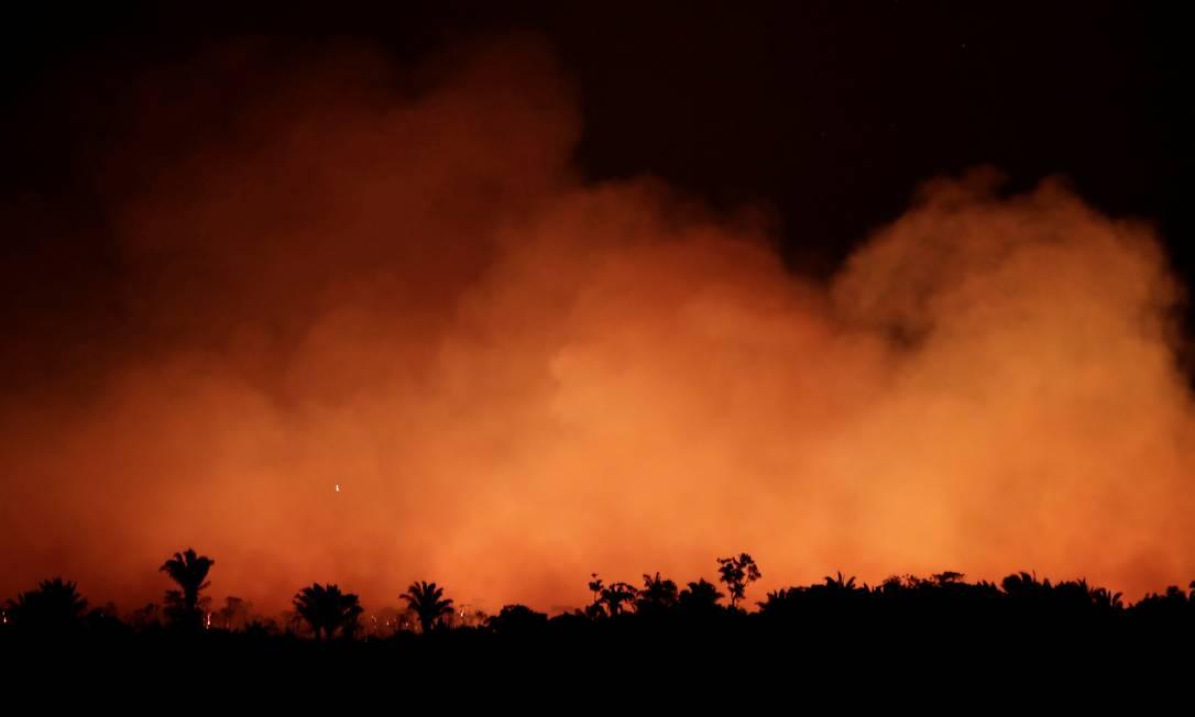 Queimadas em Humaitá, no Amazonas Foto: UESLEI MARCELINO / REUTERS