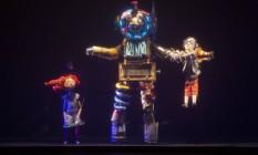 'As Aventuras de Pauleco e Sandreca no Planeta Água' é encenado por bonecos do Giramundo e tem trilha sonora do Palavra Cantada Foto: Divulgação/Guto Muniz