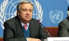 O português António Guterres, secretário-geral da ONU, pediu proteção à Amazônia Foto: Reprodução