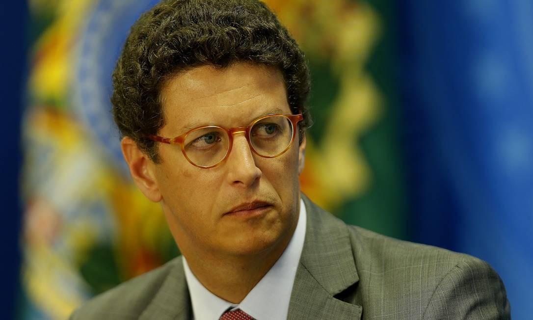 Partido Novo diz que o ministro do Meio Ambiente, Ricardo Salles, não mantém contato Foto: Jorge William / Agência O Globo