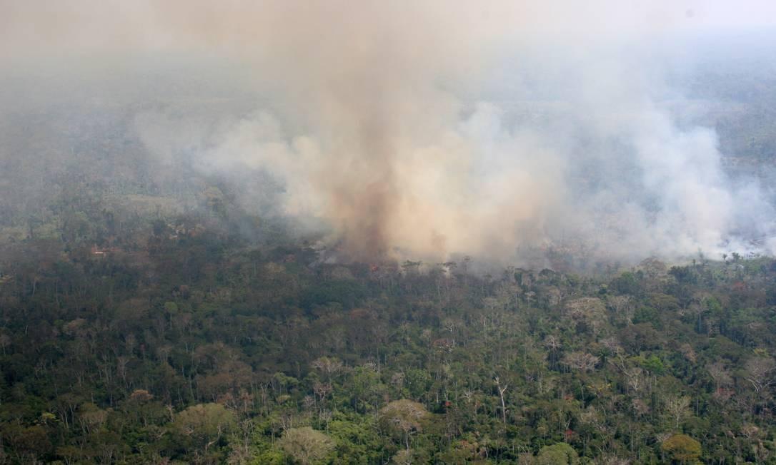 Set/2007 - Queimada na amazonia. Foto: Juvenal Pereira / WWF-Brasil Foto: Agência O Globo