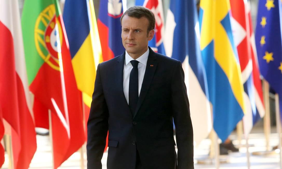 O presidente francês Emmanuel Macron vai ser o anfitrião da próxima reunião do G7 Foto: Francois Walschaerts / Reuters