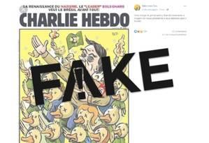 Beto Cartuns é o autor da sátira que aparece na capa falsa Foto: Reprodução