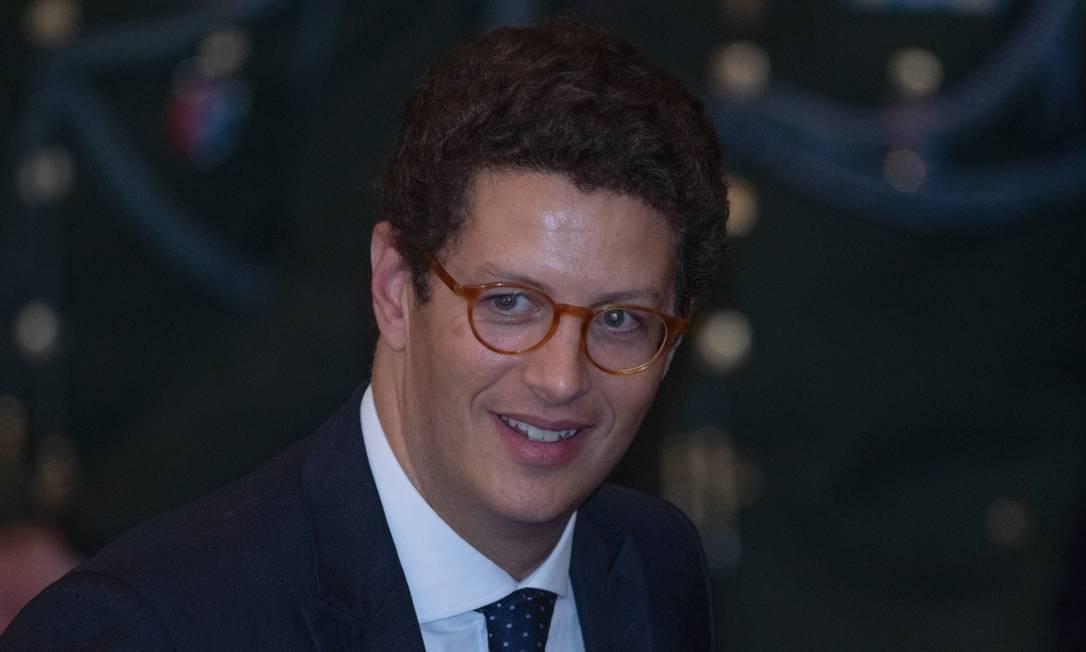 O ministro do Meio Ambiente, Ricardo Salles Foto: Bloomberg