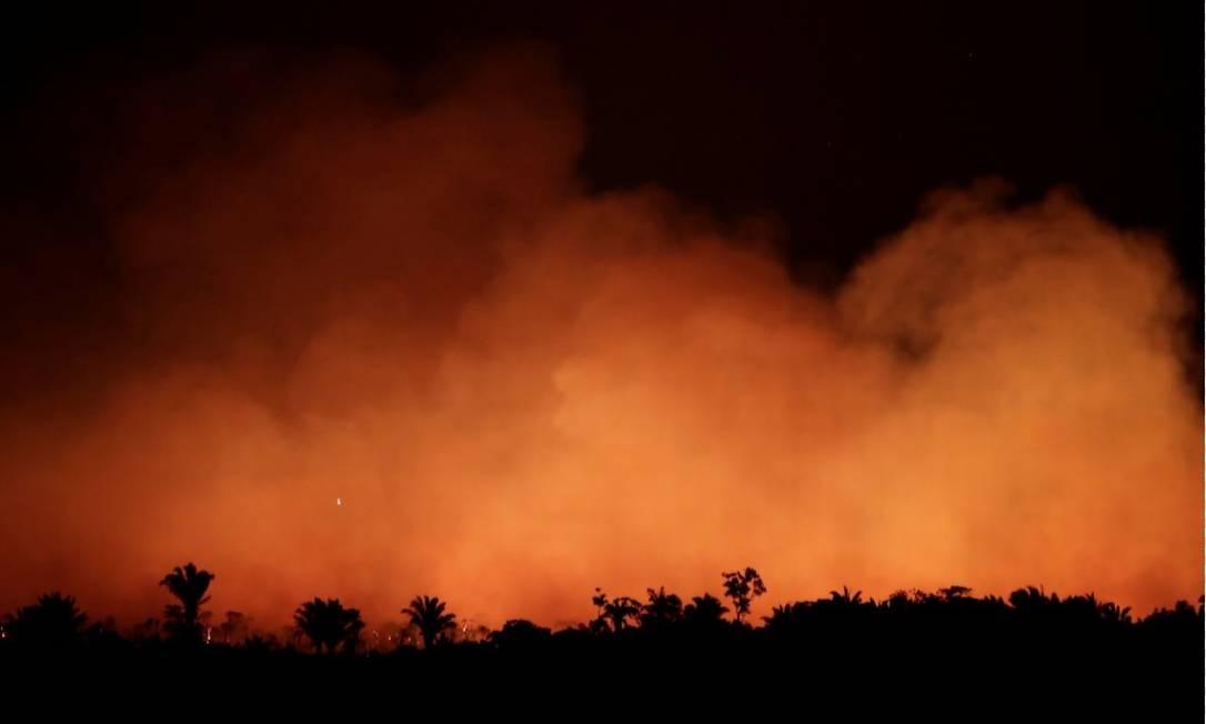 Queimada na região de Humaitá, no Amazonas Foto: Ueslei Marcelino- Reuters