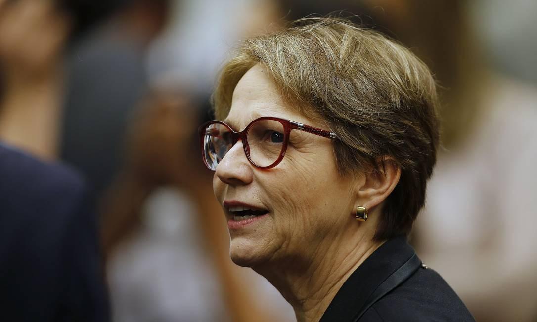 A ministra disse que o governo deve anunciar medidas contra os incêndios nesta sexta Foto: Jorge William / Agência O Globo