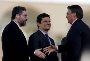 O presidente vai participar de uma reunião ministerial às 15h Foto: Jorge William / Agência O Globo