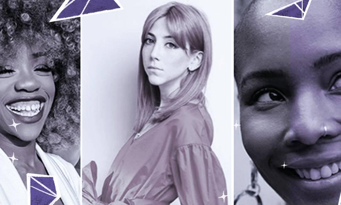 Chidera Eggerue, Scarlett Curtis e Liv Little estão na lista de mulheres que fazem uso positivo das redes Foto: Arte de José Lopes sob foto divulgação