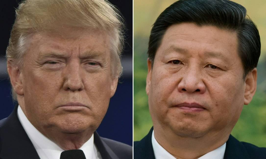 Trump e Xi Jinping: duelo de tarifas. Foto: AFP