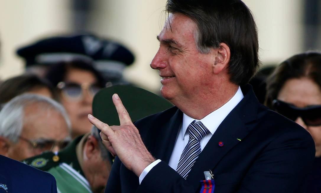 O presidente Jair Bolsonaro defendeu 'dinamismo econômico' na Amazônia Foto: SERGIO LIMA / AFP