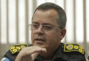 Rogério Figueredo, secretário da Polícia Militar Foto: Gabriel de Paiva / Agência O Globo