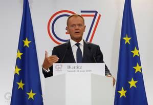 Donald Tusk, presidente do Conselho Europeu Foto: Christian Hartmann / Reuters