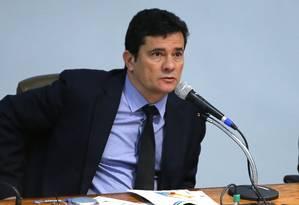 O ministro da Justiça, Sergio Moro Foto: Jorge William 22/08/2019 / Agência O Globo