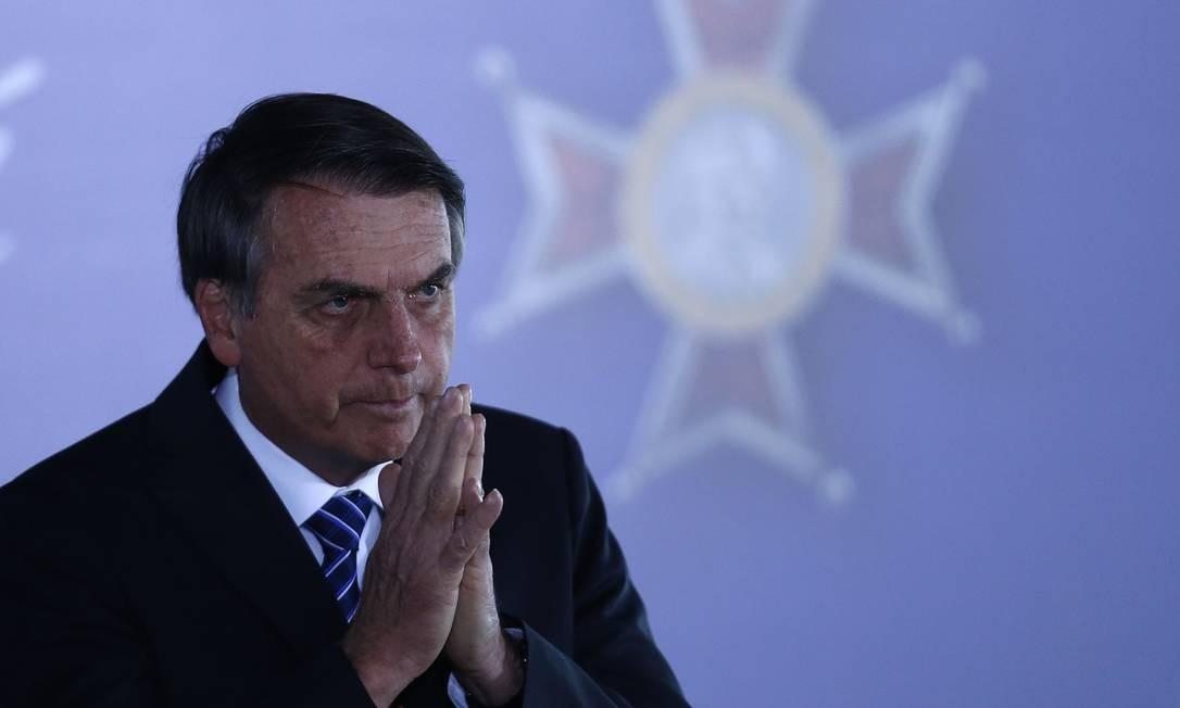 Presidente Jair Bolsonaro participa da cerimônia de entrega da Medalha Mérito Mauá Foto: Jorge William 15/08/2019 / Agência O Globo