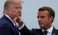 Presidente francês Emmanuel Macron quis imprimir uma agenda com destaque para o clima. Mas países como os EUA, de Donald Trump, podem bloquear um consenso Foto: CHRISTIAN HARTMANN / REUTERS