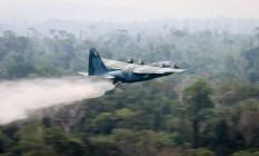 Força Aérea emprega aeronaves C-130 Hércules no combate aos incêndios na Amazônia Foto: Divulgação / Ministério da Defesa