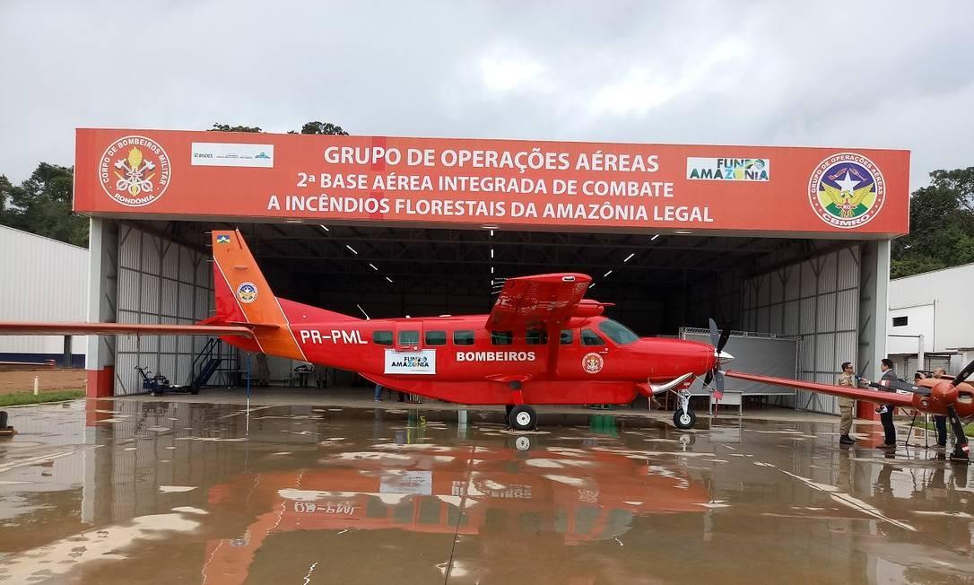Grand Caravan Ex, modelo Cessna 208, custou R$ 12 milhões Foto: Corpo de Bombeiros de Rondônia