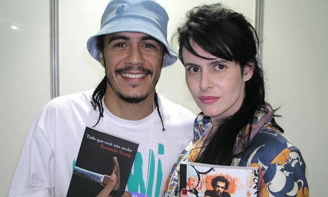 Marcelo D2 e Fernanda Young na Bienal do Livro do Rio de 2018 Foto: Wellington Pereira / Divulgação