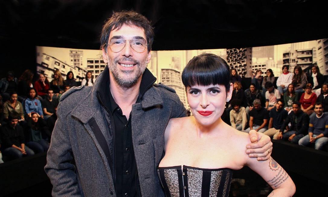 """O cantor Lobão e Fernanda Young em """"Irritando Fernanda Young"""", em 30/06/2009 Foto: Alexandre Corazza / Divulgação GNT"""