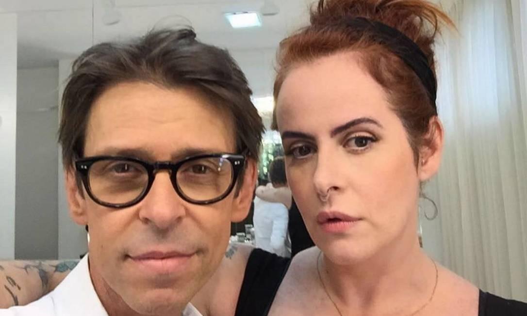 O maquiador Duda Molinos e Fernanda Young Foto: Reprodução redes sociais