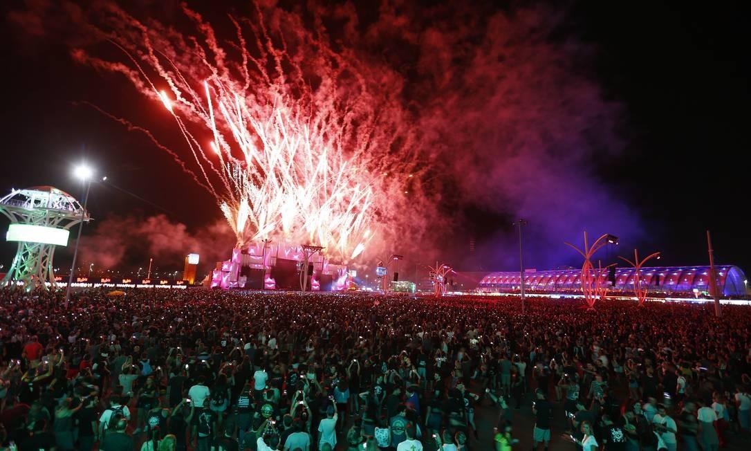 Penúltimo dia do Rock in Rio em 2017: para este ano, espera-se público de 770 mil pessoas, sendo 450 mil de outros estados e países Foto: Pablo Jacob//23-9-2017 / Pablo Jacob/23-9-2017