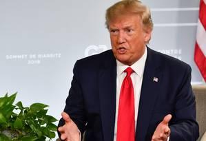 """Donald Trump sinalizou que estaria aberto à diplomacia com o Irã, mas disse que """"era cedo"""" para um encontro com integrantes do governo iraniano Foto: NICHOLAS KAMM / AFP"""