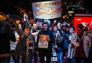 Manifestações pelo cinema brasileiro em Gramado Foto: Edison Vara / Agência Pressphoto