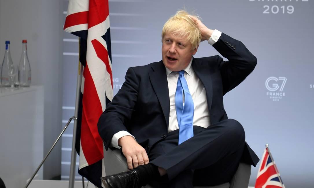 Boris Johnson, primeiro-ministro britânico, apoia acordo comercial entre UE e Mercosul Foto: POOL / REUTERS