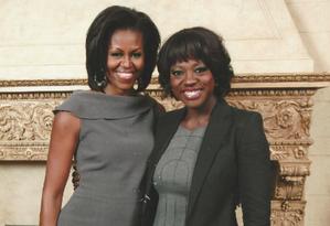 Michelle Obama será interpretada por Viola Davis na TV Foto: Reprodução/Facebook Viola Davis