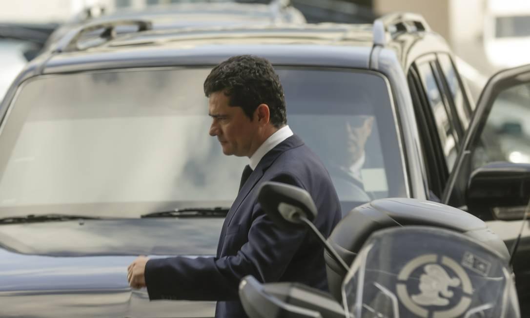 Em agenda reservada, Sergio Moro visita sede da Polícia Federal no Rio Foto: Gabriel de Paiva / Agência O Globo