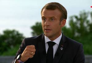 O presidente francês, Emmanuel Macron, afirmou que debate sobre status internacional da Amazônia 'permanece em aberto' Foto: - / AFP