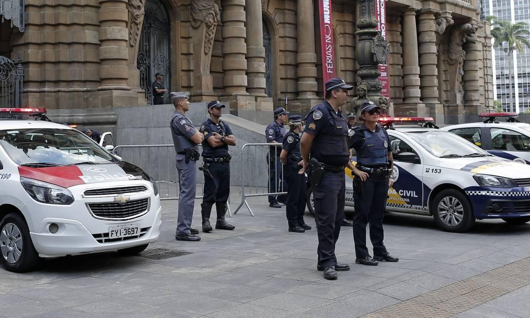 Policiais fazem patrulhamento em São Paulo 10/01/2019 Foto: Edilson Dantas / Agência O Globo