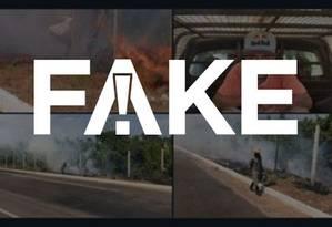 É #FAKE que integrante do MTST foi preso incendiando floresta Foto: Reprodução