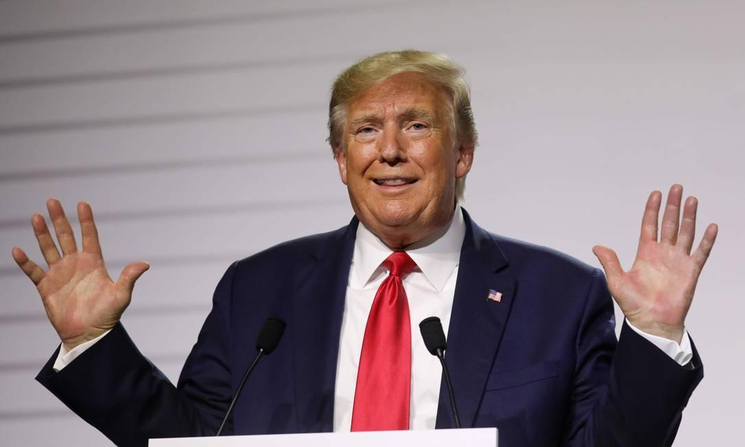 O presidente americano, Donald Trump, teve 125 ações para reverter regras de proteção ao meio ambiente Foto: LUDOVIC MARIN / AFP