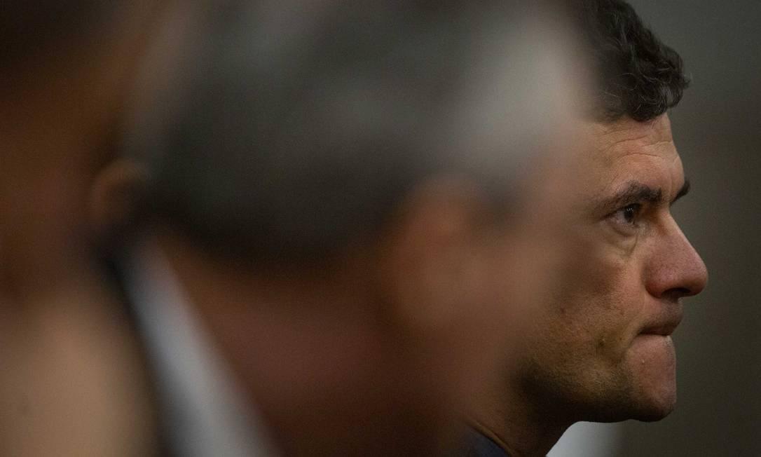 Ministro da Justica, Sergio Moro participa de abertura de seminário, em Brasília Foto: Daniel Marenco 27/08/2019 / Agência O Globo