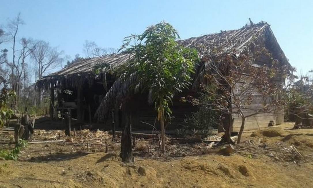 A casa que era a primeira residência própria de Eidi e Romildo Foto: Acervo pessoal