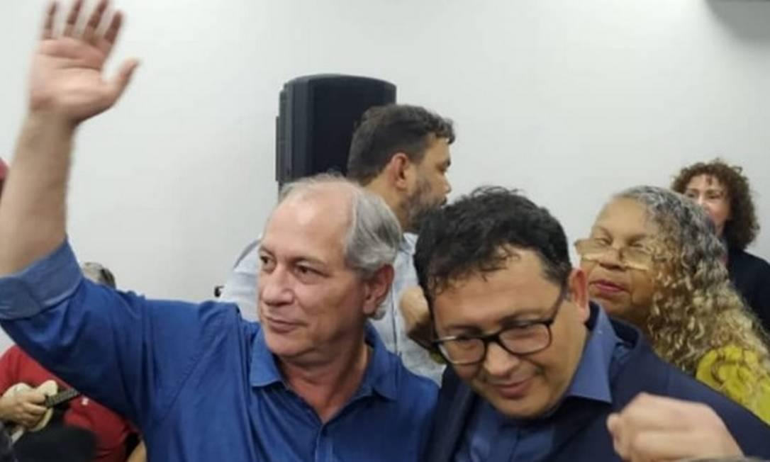 """Ciro Gomes e Randal Farah, em evento na sede do PDT na última quarta-feira: """"projeto para São Gonçalo"""" Foto: Reprodução"""