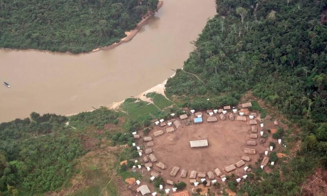 Lideranças indígenas Xikrin denunciaram ameaças de morte e queimadas dentro de Terra Indígena Trincheira-Bacajá, no Pará Foto: Reprodução