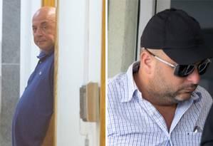Major Ronald Paulo Alves e Maurição, presos na Operação Intocáveis, em janeiro, foram levados para a Cidade da Polícia, onde prestaram depoimento Foto: Márcia Foletto / Agência O GLOBO