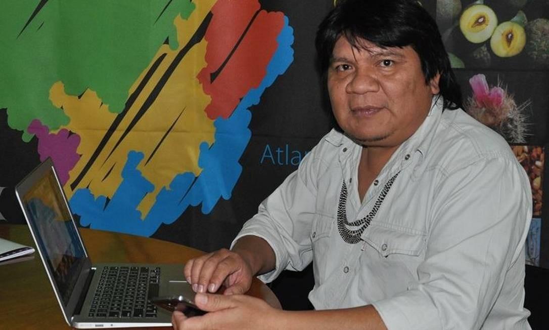 O líder do povo Paiter-Suruí, Almir Narayamoga Suruí, Foto: Silvane Trevisan Tonetti / Reprodução/Facebook