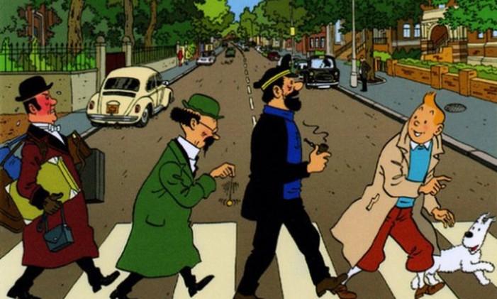 Tintim Beatles Foto: Reprodução