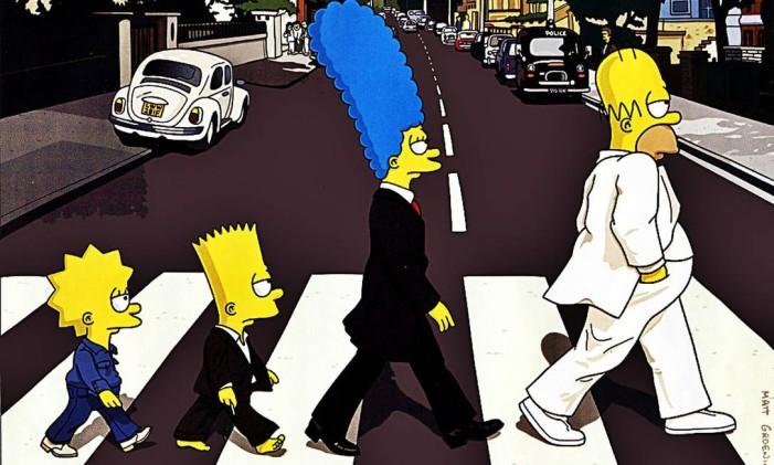 Simpsons Abbey Road Foto: Reprodução