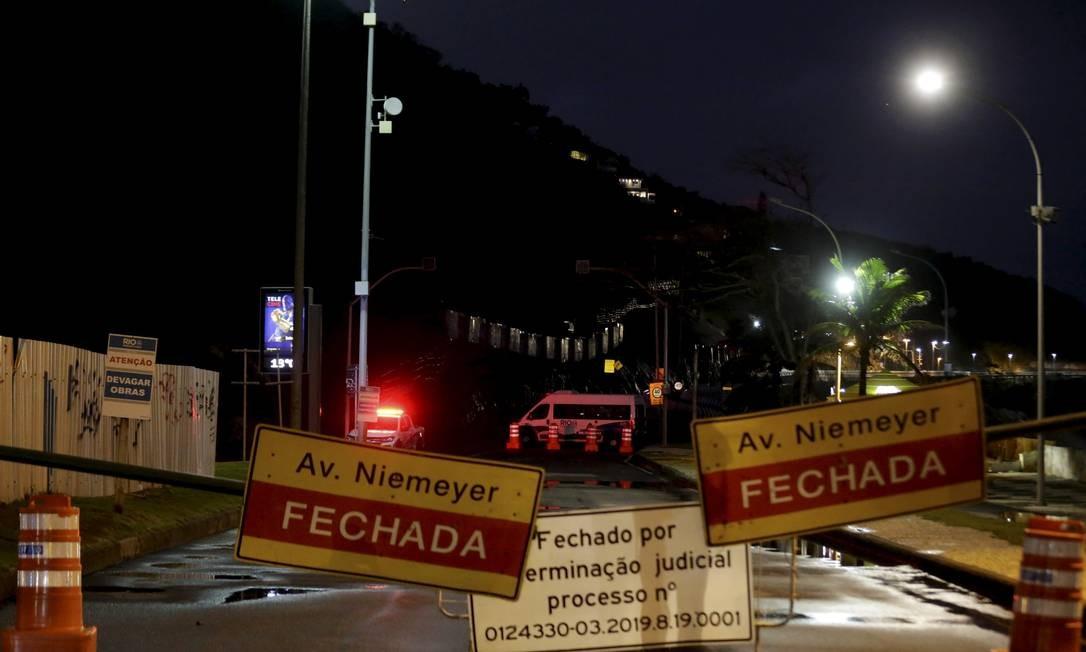 RI Rio de Janeiro (RJ) 23 / 08 / 2019 - Avenida Niemeyer interditada há quase três meses. - Foto Marcelo Theobald / Agência O Globo. Foto: MARCELO THEOBALD / Agência O Globo