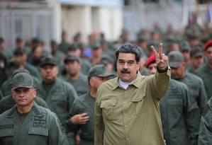 """EUA sugerem anistia a Maduro se ele deixar o poder, mas líder venezuelano afirma, por canais indiretos, que """"vai resistir à pressão internacional"""" Foto: HANDOUT / REUTERS"""