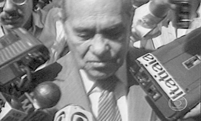 Tancredo Neves, que morreria no dia 21 de abril, no Instituto do Coração (SP) Foto: Divulgação